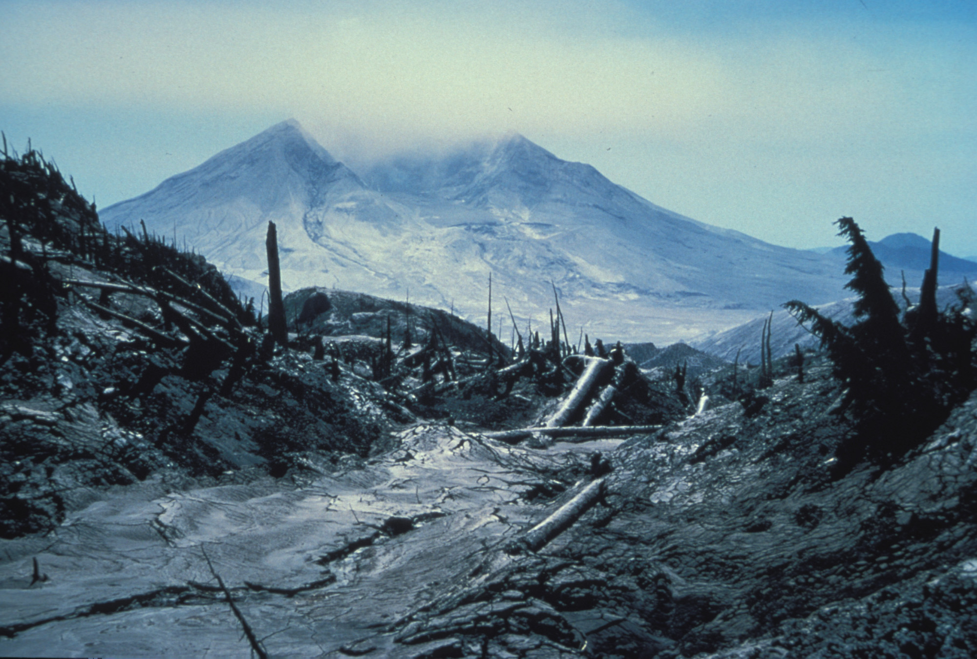 View of Mt. St. Helens from Mt. Margaret, July 27 1980